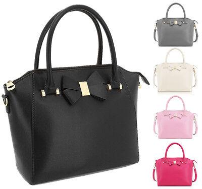 Smith Bow (New Anna Smith Bow Detail Tote Bag Womens Designer Inspired HandBag Gift Idea)