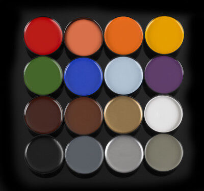 Mehron Color Cup Foundation Creme Clown Makeup Various Color Halloween Mardigras](Cosmetics Makeup Halloween)