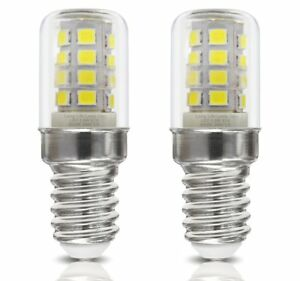2 pack LED Fridge Bulb / Sewing Machine Bulb E14 Cool White 1.5W 240V