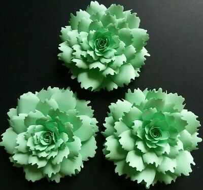 Peonies Mint Green Paper Flowers 3-D Handcrafted DIY Wedding Party Decor - Mint Green Wedding Decorations