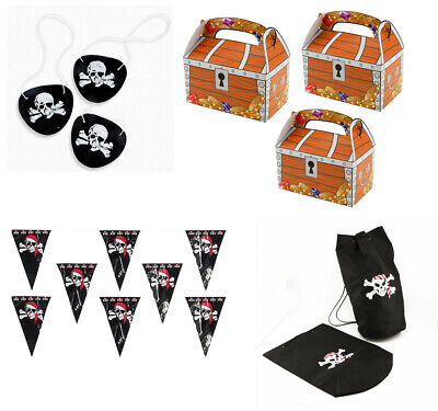 Pirate Theme Birthday Party Decoration Supplies Skull Banner Backpack - Theme Pirate
