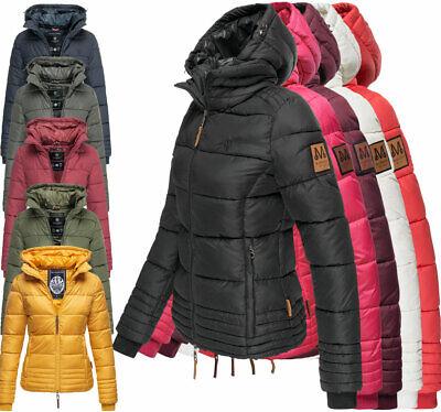 Marikoo Designer Damen Herbst WinterJacke Steppjacke übergangsJacke SOLE Kapuze