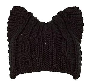 NEW-Cute-Cat-Ear-Meow-Kitty-Woman-Wool-Winter-Hand-Knit-Cap-Beanie-Hat-A004