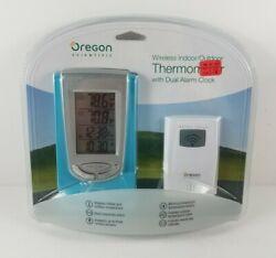 Oregon Scientific Wireless Indoor Outdoor Thermometer w/Dual Alarm Clock RAR188A