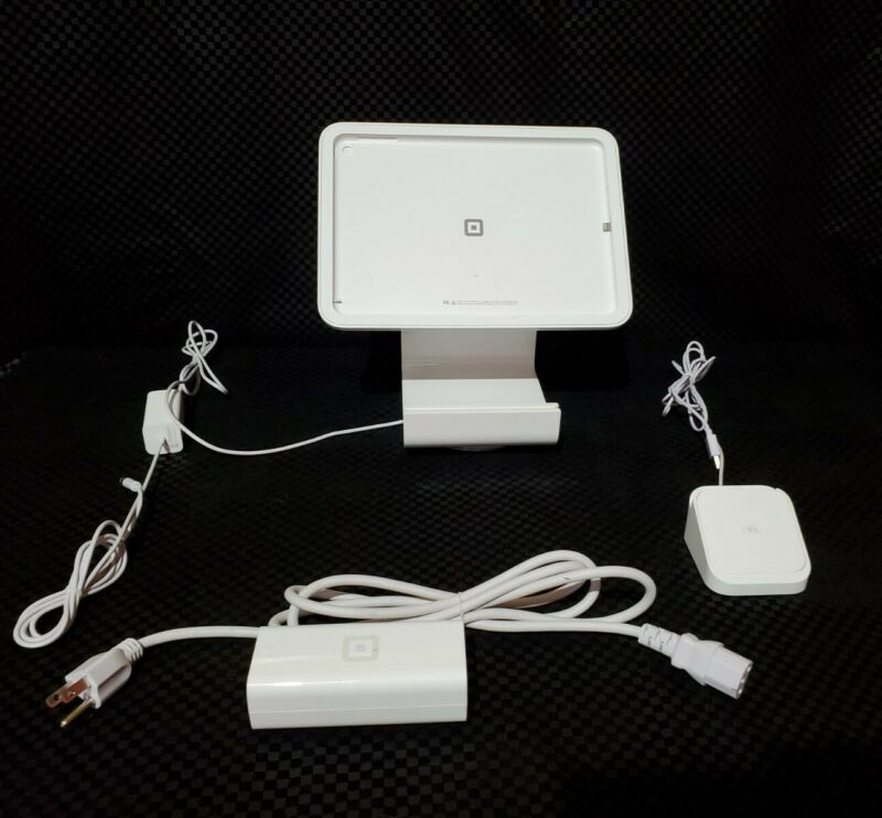 POS Square Stand BUNDLE + 2 Mobile Card Readers Complete w/o ipad GoodCondition!
