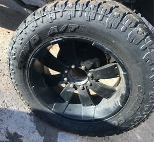 Toyo open country a/t2 37x12.5 r22 22x12 eagle alloy rims 8x6.5