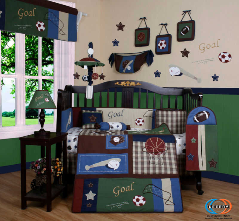 13PCS Classic Sports Baby Nursery Crib Bedding Sets - Holiday Special