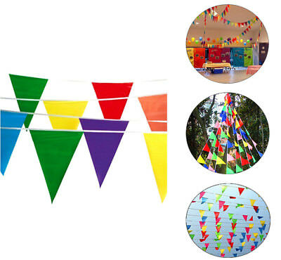 Colorful Pennant Banner (100' Multi Color Flag Pennant Banner Party Decor Birthday Party Garage Sale)
