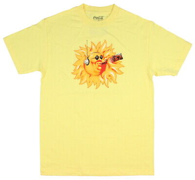 Coca-Cola Men's Sun With Headphones Sipping A Coke T-Shirt