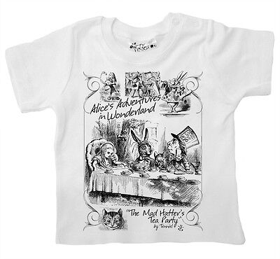 Dirty Fingers Baby T-shirt Alice's Adventures in Wonderland Mad Hatter Tea Party ()