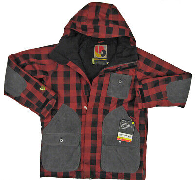 NEW $350 Burton Hemisphere Jacket!  XS  Red & Black Plaid  Buffade   Dry Ride 2L (Black Ride 2 Jacket)
