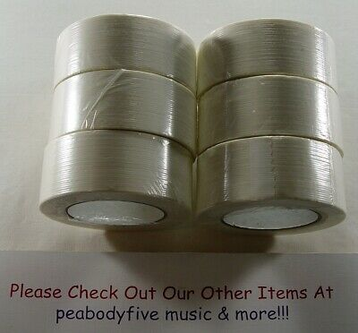 Primetac 6 Rolls 2 X 60 Yds Hotmelt Filament Strong Strapping Packing Tape Fs