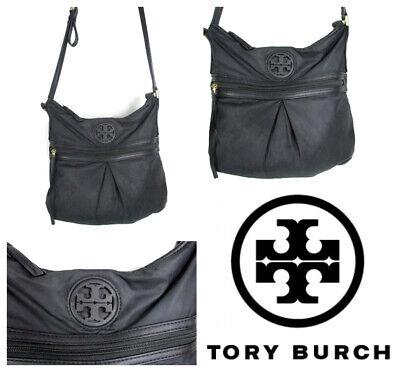 Tory Burch Nylon Swingpack Crossbody Purse Tory Black  Shoulder bag LOGO Euc