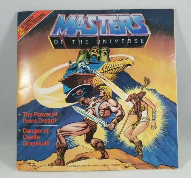 Masters of the Universe He-Man Comic Book with 2 Stories by Mattel and a record.