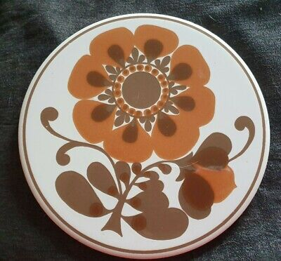 VINTAGE 1970's H & R JOHNSON TEA POT STAND TILE KITCHENALIA