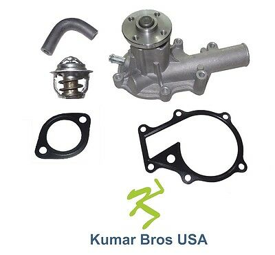 New Kubota B2650 B3030 B3200 B3300 Water Pump With Return Hose Thermostat