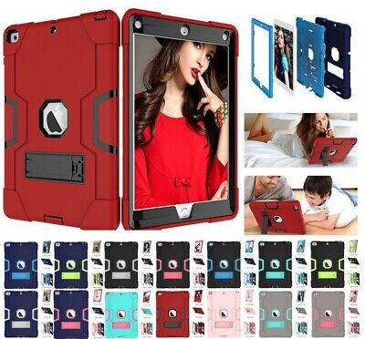 Case For iPad Air Mini 1/2/3/4 Heavy Duty Rubber W/Hard Stand Shockproof Cover