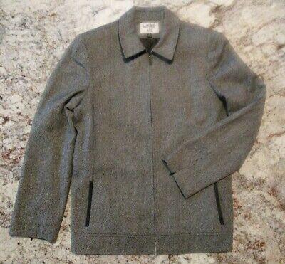 Kasper Size 12 Heathered Black Zippered 2 piece Pant Suit