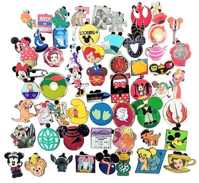 Disney Pin Trading 100 Assorted Pin Lot - Brand NEW Pins - No Doubles - Tradable