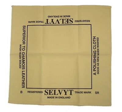Genuine Selvyt Universal Polishing Cloth - 35cm x 35cm - Boot Bulling Diddly