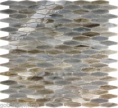 10SF Gray Hexagon Stained Eyeglasses Mosaic Tile Kitchen Backsplash Lowest level Flood Funds