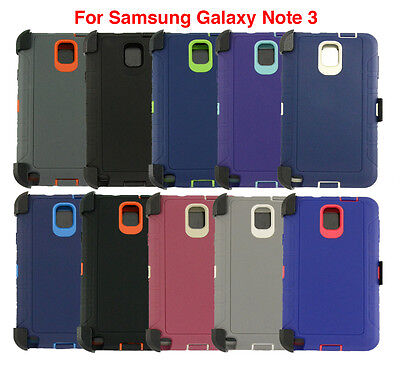 For Samsung Galaxy Note 3 Defender Case Protector Cover [Clip Fits Otterbox]