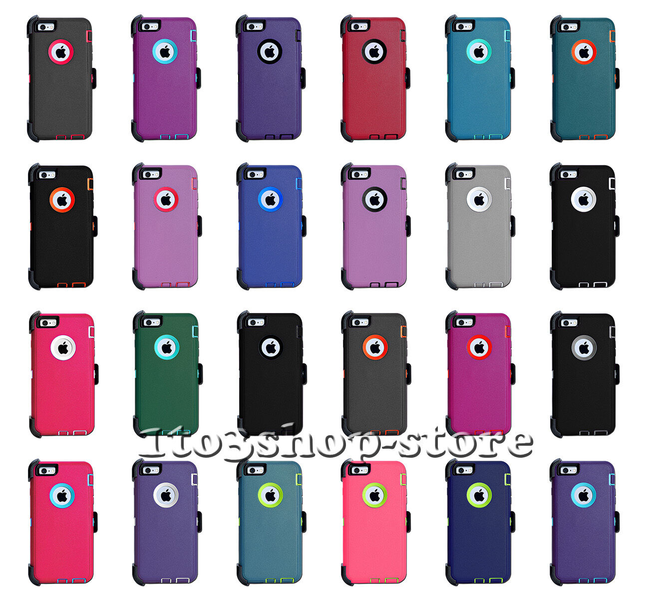 """iPhone 6 iPhone 6s 4.7"""" Defender Shockproof Hard Shell Case"""