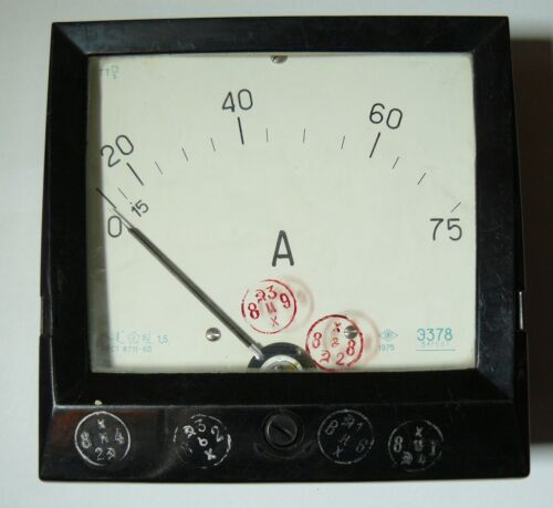 Vintage Tester Russian Soviet Analog  Device Amp Meter USSR 1975 Panel Meter