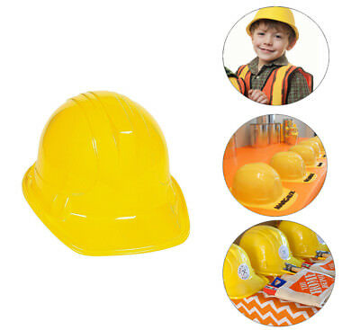 Yellow Construction Hard Hat Plastic Cap Costume Birthday Party Favor Kids Child