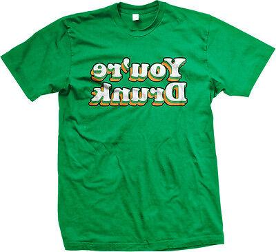 Youre Drunk Backwards St Patricks Day Funny Humor Drinking Irish Mens Tshirt