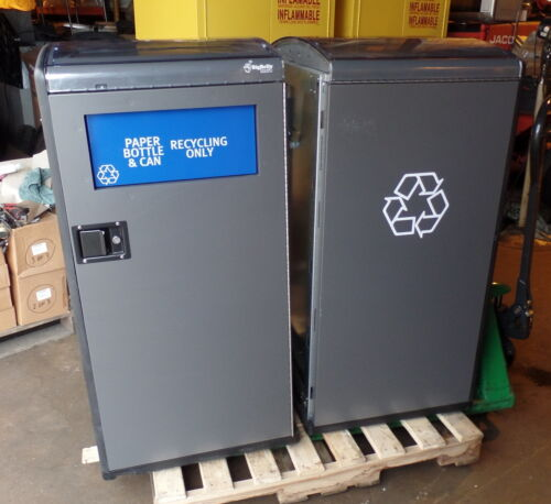 Bigbelly Trash Waste Recycling Stations with Bins - Six each - Selling as Parts