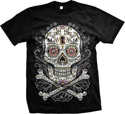 Sugar Skull And Cross Bones Tattoo Designs Day of the Dead Flash- Men's - Day Of The Dead Tattoo Designs