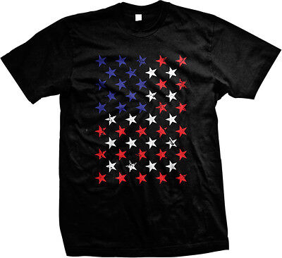 Red White And Blue Stars Flag USA America Patriotic Murica Mens T-shirt](Red White And Blue Flag)