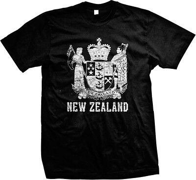 New Zealand Coat of Arms Aotearoa Polynesian Auckland Wellington  Mens (New Zealand Coat Of Arms)