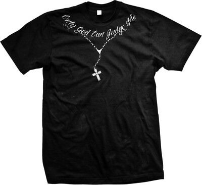 - Only God Can Judge Me Necklace - Lyrics Song Rap  Mens T-shirt