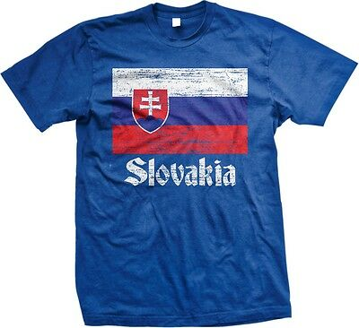 Slovakia Distress Flag World Cup Nationality Ethnic Pride -Mens - Slovakia Flag T-shirt