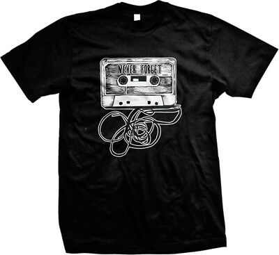 Never Forget Cassette Tape -Old School Funny Sayings Mens T-shirt