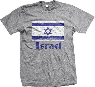 Israel Flag T-shirt - Israel Distressed Flag World Cup Nationality Ethnic Pride -Mens T-shirt