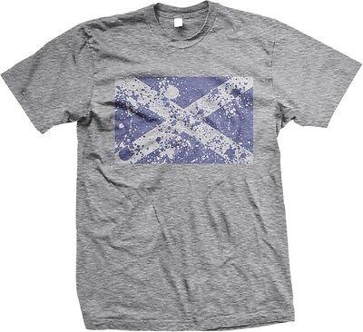 Scottish Distress Flag Scotland World Cup Nationality Ethnic Pride  Mens T Shirt