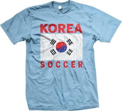 Korea Korean Soccer Flag Colors Team Pride 2014 World Cup -Mens (Korea Soccer Pride T-shirt)