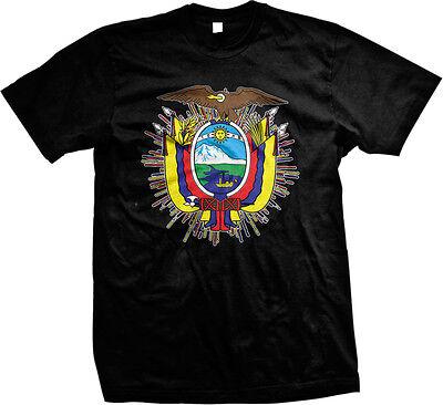 Ecuador Shield Quito Galapagos Condor Republica Equatoriano Mens T Shirt