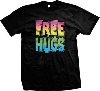 SALE FREE HUGS Rainbow Colors Fun Happy Outgoing (Free Hugs)