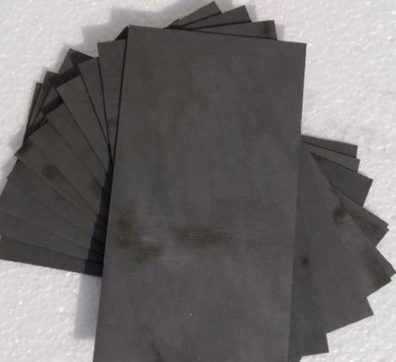 US Stock 2pcs 3*40*150mm 99.99% Pure Graphite Electrode Rectangle Plate Sheet