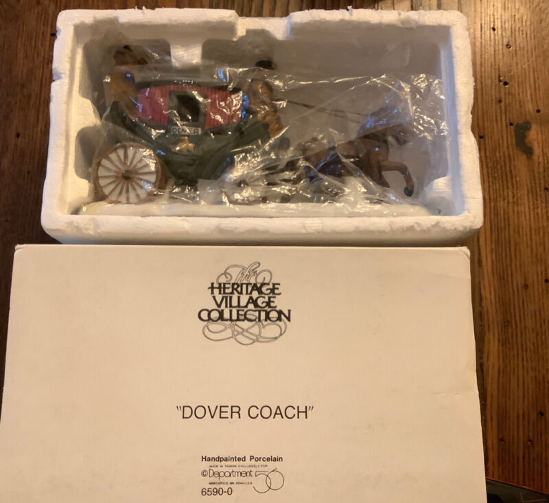 Department 56 Heritage Village DOVER COACH  Free Shipping