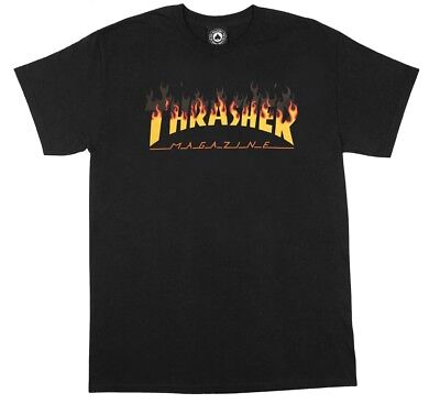 779ccfbe839 Thrasher Magazine BBQ FLAMES Skateboard T Shirt BLACK MEDIUM.  . 19.95. Buy  It Now