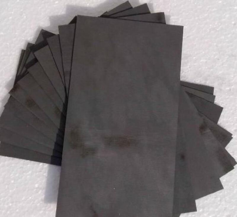 US Stock 5pcs 3*40*50mm 99.99% Pure Graphite Electrode Rectangle Plate Sheet
