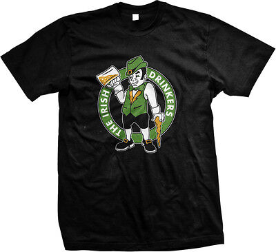The Irish Drinkers - Boston Celtics Drunk Funny St. Patricks Day - Men's T-shirt