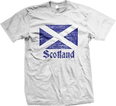 Scotland Distress Flag Scottish World Cup Nationality Ethnic Pride  Mens T Shirt
