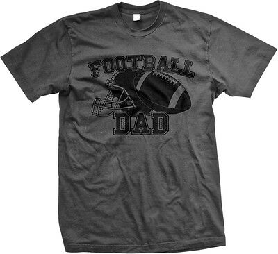 Football Dad Helmet Team Supporter Son Kid Child Field Touchdown Mens T Shirt