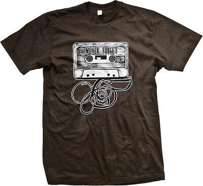 Never Forget Cassette Tape Deck Audio Mix Rewind Dead Is  Reverse Men's T-Shirt